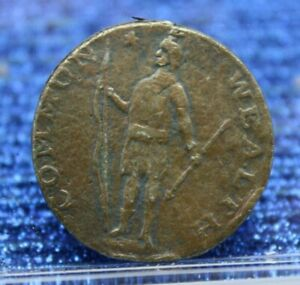 1788 Massachusetts Commonwealth Colonial Copper Coin CENT $199.99
