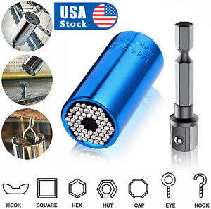 USA Universal Socket Wrench Magical Grip Alligator Multi Tool with Drill Adapter $7.98