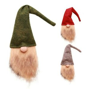 3PCS Christmas Wine Bottle Cover Gnome Wine Bottle Topper Xmas Desk Table Decor