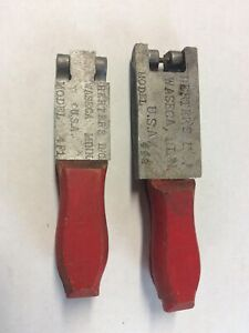 2 Vintage Herters Lead Jig Molds 4F1 And 4F2