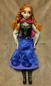 Disney Store Exclusive Frozen Anna 16quot; Singing LightUp Jointed Doll $19.99