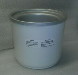 Replacement 1.5 Qt Freezer Bowl for Cuisinart Soft Serve Ice Cream Maker ICE 45