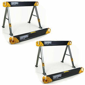 TOUGHBUILT 2 Pack 42.4quot; Steel Sawhorse and Jobsite Table Pair 2200 lb. Capacity $81.95