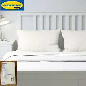 Ikea PUDERVIVA King Bed Sheet Set Flat Fitted 2 Pillowcases 100% Linen White