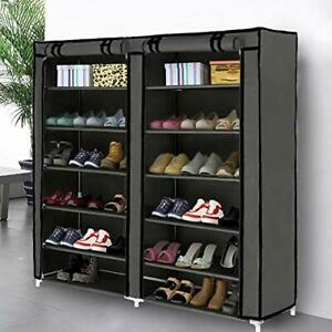Blissun Shoe Rack Shoe Storage Organizer Cabinet Tower with Nonwoven Fabric $40.93
