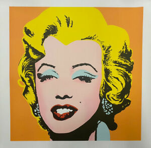 """ORIGINAL 31"""" ANDY WARHOL MARILYN MONROE HAND NUMBER 1 500 LITHOGRAPH $995.00"""