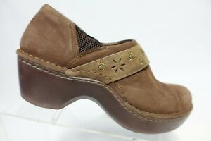 ARIAT Professional Leather Brown Sz 8.5 B Women Nursing Clogs