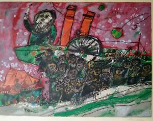"""THEO TOBIASSE """"EXODUS"""" from the """"DIASPORA"""" Suite Hand Signed and numbered $175.00"""