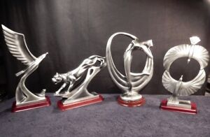 Herco Gift Professional Silver Tone 4 Statue Set RARE amp; VINTAGE Sculptures $249.95