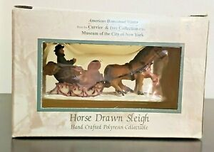 2002 Currier amp; Ives Museum of the City of New York Accessory HORSE DRAWN SLEIGH $22.45