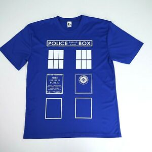 Doctor Who Tardis Dry Fit Shirt. Size Large. $13.50