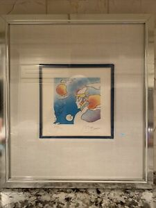Very Rare Peter Max Limited Edition Lithograph Thought Signed 278 280 Framed $475.00