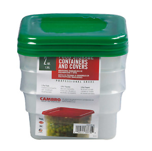 Cambro CamSquare 2 Quart Food Storage Container with Lid 3 count $25.98