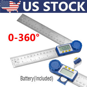 8quot; Electronic Digital Angle Finder Protractor Goniometer LED 360° w Batteries $11.99