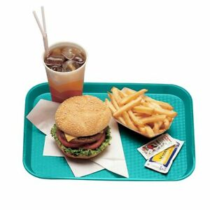 Cambro 1418FF414 Teal 14quot; x 18quot; Fast Food Tray Dozen $56.79