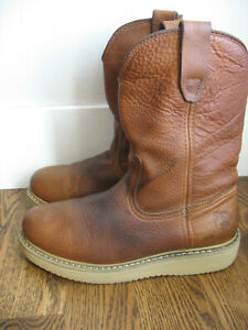 Men#x27;s Georgia Work Boots Sz 8 M Round Toe Pull On Boots 10quot; Wellington G5153
