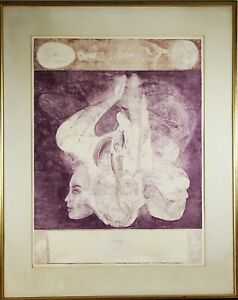 Jiri Anderle Czech b.1936 quot;Comedy №13quot; Original Etching Pencil Signed $650.00