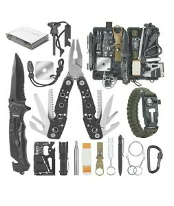 Survival Kit 12 in 1 Emergency Camping Gear Fishing Hunting Gifts Ideas for Teen