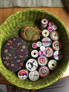 Vintage Sewing Box With Contents Haberdashery GBP 34.99