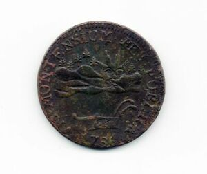 1786 RR 6 VERMONT VERMONTENSIUM COLONIAL COPPER SEE COIN $650.00