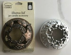 Lot of 2 CANDLE Illuma lid Jar Candle Accessory or Jar Topper CHRISTMAS HOLIDAY $12.99