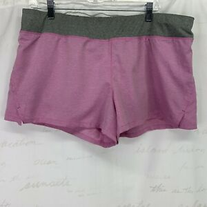Danskin Now athletic shorts with under shorts lining Pink Gray XL 16 18 $14.99