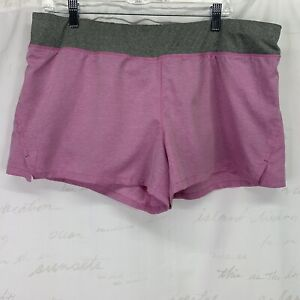 Danskin Now athletic shorts with under shorts lining Pink Gray XL 16 18 $11.24