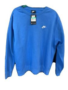 NIKE BLUE XL SWEATSHIRT CREW NECK MENS XL BRAND NEW WITH TAGS $33.00