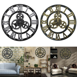 12 16 23inch Retro Large Outdoor Wall Clock Roman Numerals Silent Non Ticking $26.98