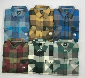 Men#x27;s Vans Off The Wall Tailored Fit Box Plaid Cotton Flannel Long Sleeve Shirt $29.99