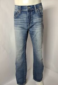 BKE Buckle Jake Boot Stretch Cotton Denim Men#x27;s Designer Jeans Size W: 34R x 32