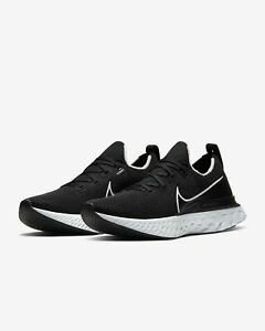 Nike React Infinity Run Flyknit Running Shoes Black White CD4371 002 Mens NEW $87.99