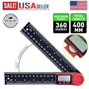Electronic LCD Digital Angle Finder 8quot; Protractor Gauge Ruler $10.88
