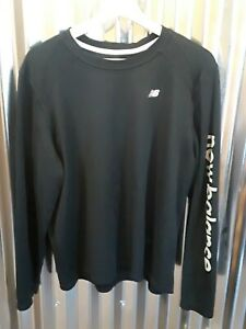 New Balance Lightening Dry Fit Shirt Mens Size Large L Black Long Sleeve $8.00