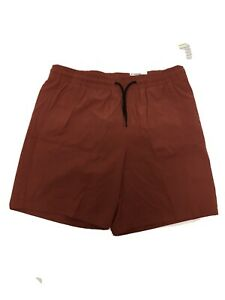 Mens Old Navy Shorts Active Stretch Tech Clay Red Zipper Pocket Quick Dry Large $17.95
