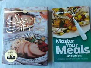 Lot of 2 Cookbooks Weight Watchers Master Your Meals amp; Simply the Best 2013amp;#x27; 97