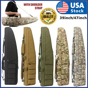 "39quot; 47"" Long 600D Soft Padded Tactical Gun Case Bag Assault Rifle Pistol Storage $32.88"