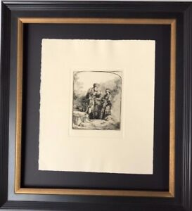 Rembrandt quot;Abraham Parlant a#x27; Isacc quot; Etching Museum Rare Make Offer $375.00
