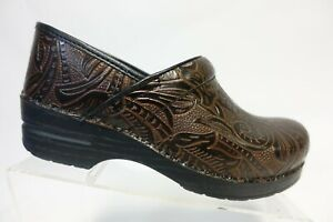 DANSKO Professional Brown Sz 10 40 EU Women Floral Nursing Clogs