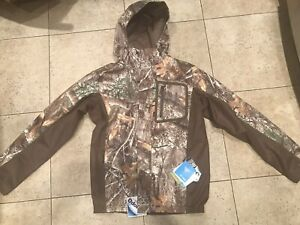COLUMBIA HUNTING MENS REALTREE PHG HOODED TROPHY RACK CAMO JACKET MEDIUM $150
