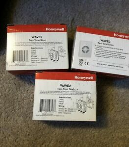 NIB LOT of 3 HONEYWELL ADEMCO WAVE2 TWO TONE INDOOR SECURITY SIREN *NEW