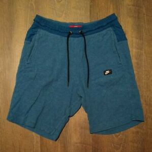 Nike Shorts Modern Sportswear Mens M Medium Cotton W Pockets Blue 9quot; Inseam $21.95