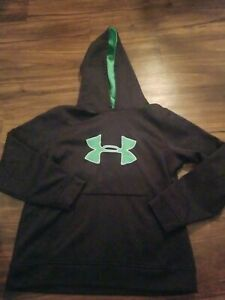 UNDER ARMOUR HOODIE BOYS YOUTH LARGE BLACK $14.99