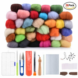 7 Colors Wool Yarn Roving Fibre Hand Spinning DIY Craft for DIY Needle Felting $6.88
