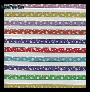 Silver Stars On Bold Colors Origami Paper For Lucky Stars
