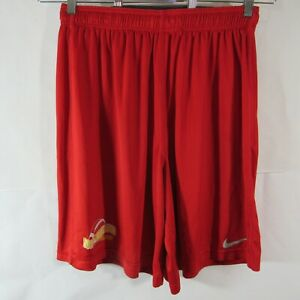 Nike Dri Fit Shorts XL Elastic Drawstring Waist Red Broward Bulldogs Football $12.12