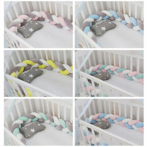 Crib Protector Baby Bed Bumper 3 Strand Knot Newborn Cushions Home Decor Pillow $24.99