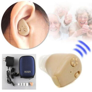 Rechargeable Digital Mini In Ear Hearing Aid Adjustable Tone Amplifier With case $24.49