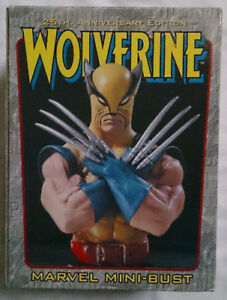 Marvel Comics Bowen X Men Wolverine 25th Anniversary Edition mini bust statue GBP 80.00