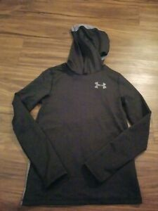 UNDER ARMOUR HOODIE BOYS YOUTH LARGE BLACK $16.99